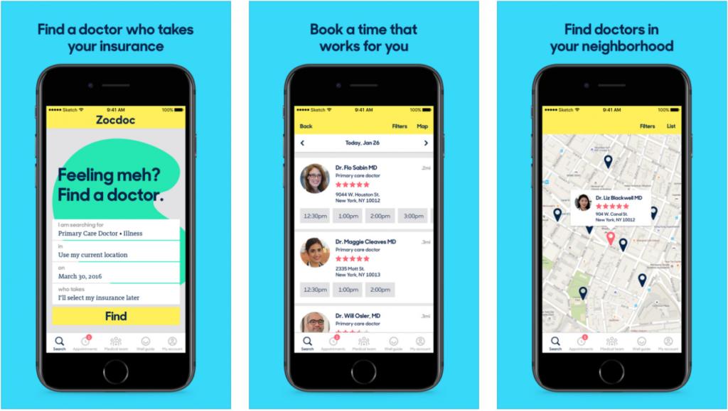 Healthcare trends in apps development.