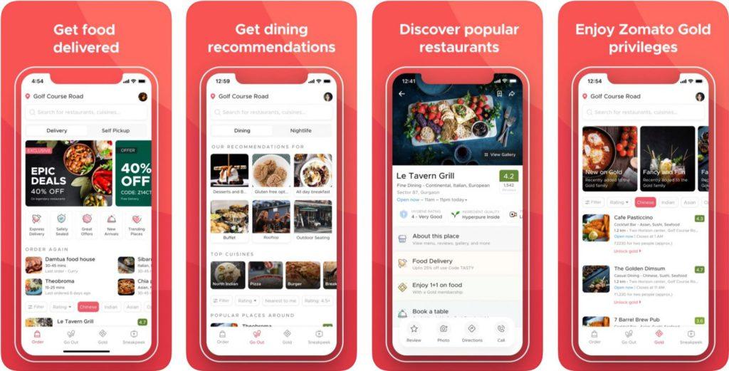 Zomato app