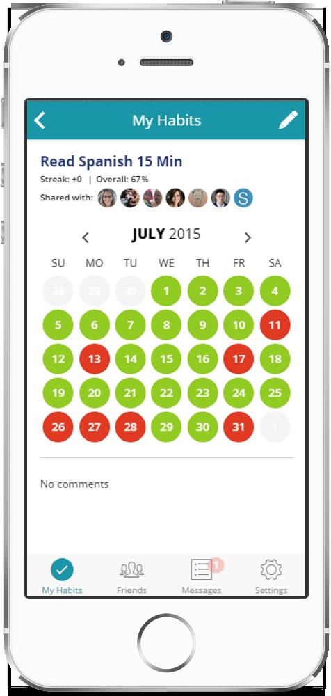 Habit tracker: HabitShare